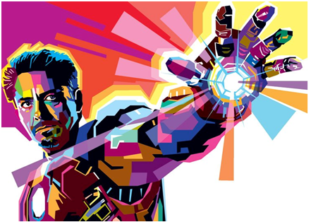 Pop Art Digital Iron Man karya WPAP Chapter Semarang